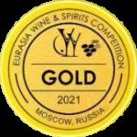 Золотая медаль на Eurasia Wine Spirits Competition-2021